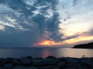 Solnedgang ved Gyldendal